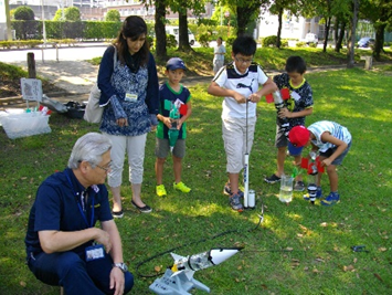 ダ・ヴィンチ工房「水ロケット」